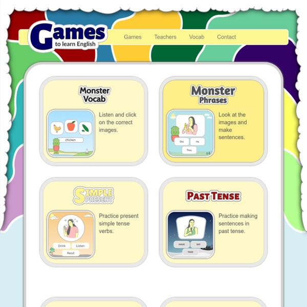 Games - Games to Learn English – For Students