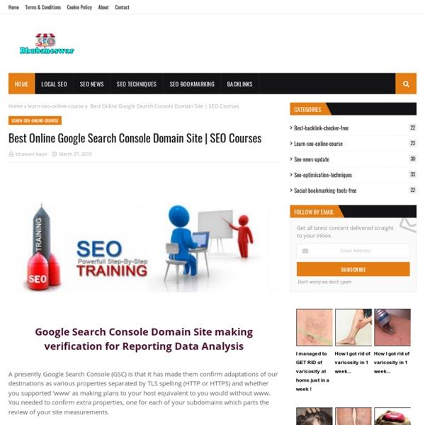 Best Online Google Search Console Domain Site