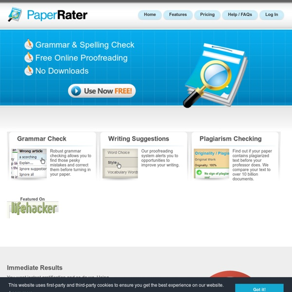 Free Online Grammar Check, Spelling, and More
