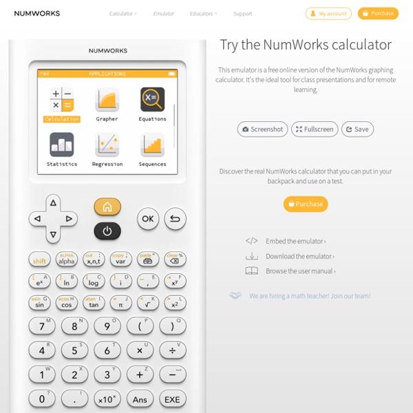 Émulateur en ligne — NumWorks