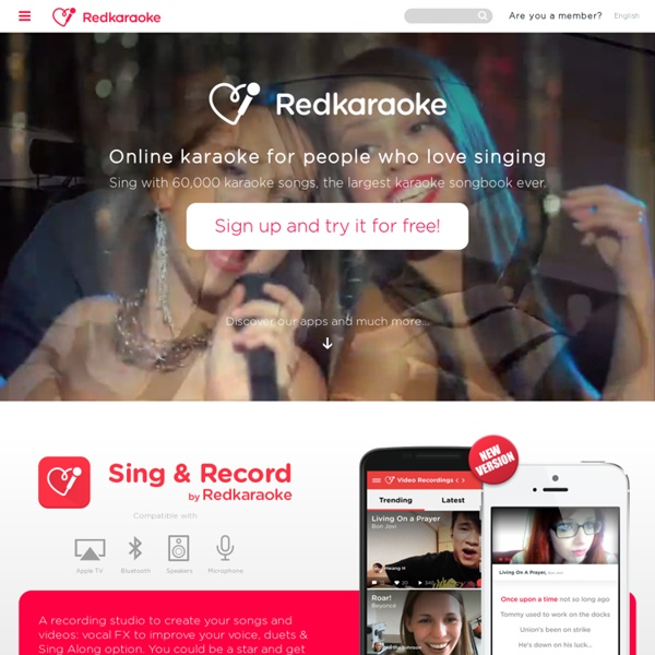 Sing Karaoke with RedKaraoke: any song, anywhere, anytime