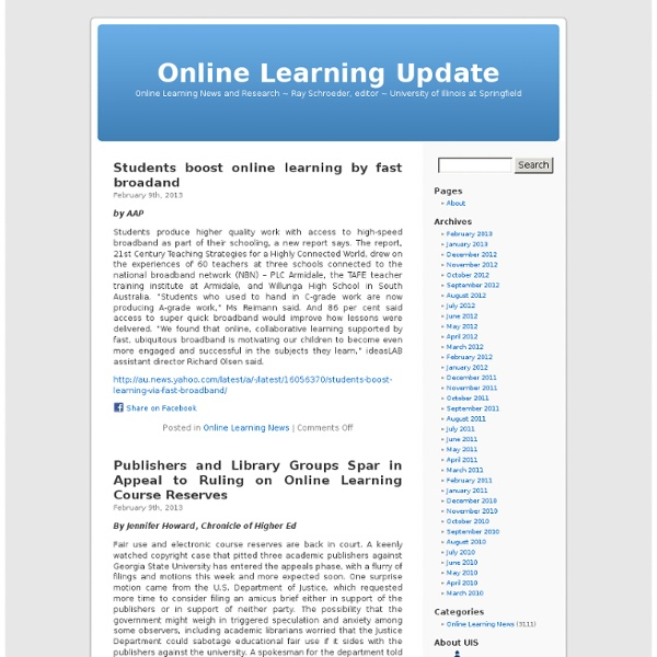 Online Learning Update