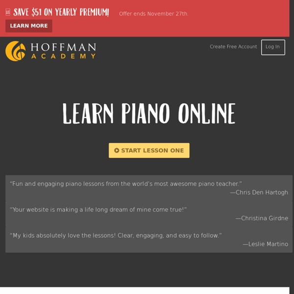 Hoffman Academy – Online Piano Lessons for Free