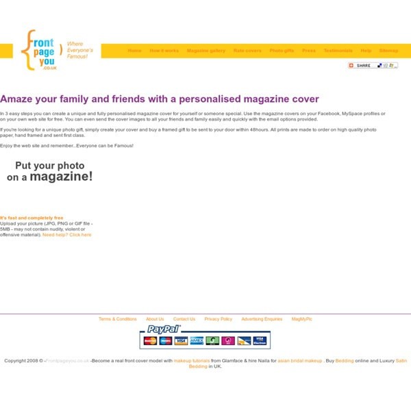 Free Online Fake Magazine Maker- FrontPageYou.co.uk