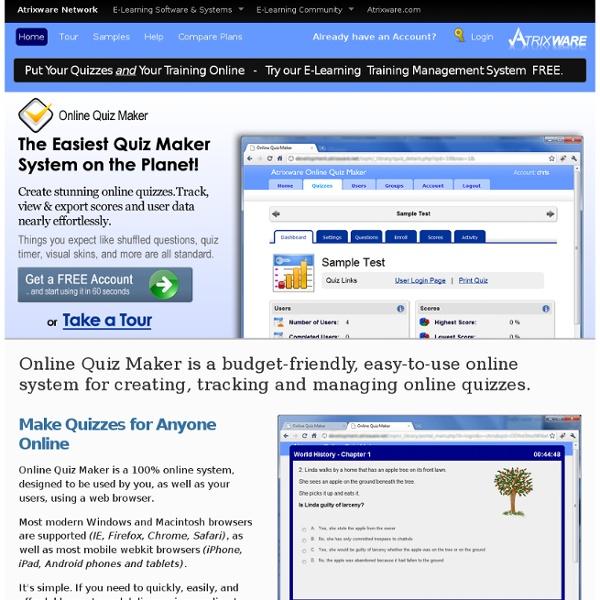 Atrixware Online Quiz Maker