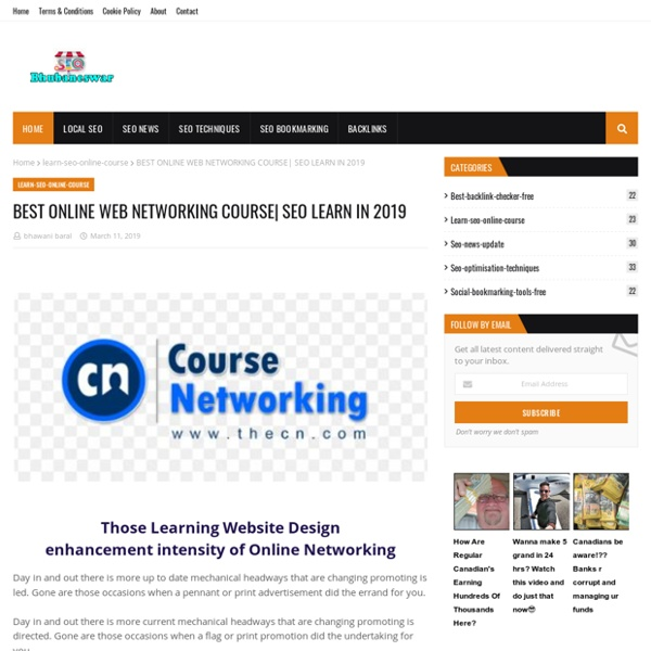 BEST ONLINE WEB NETWORKING COURSE