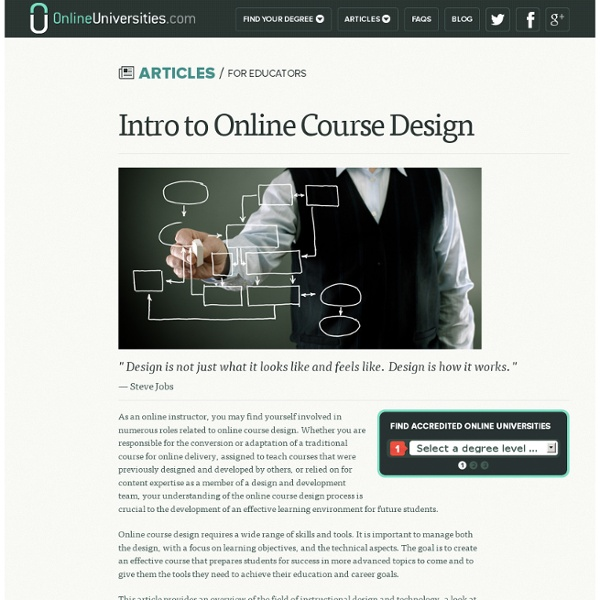Intro to Online Course Design