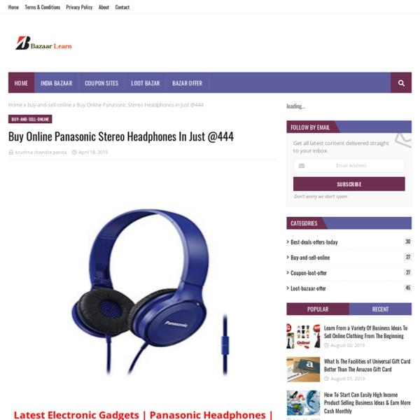 Buy Online Panasonic Stereo Headphones In Just @444