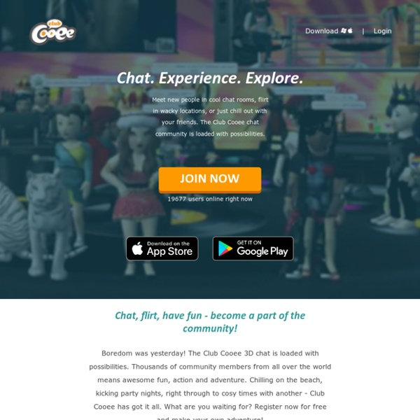 Free Online Chat in 3D. Meet people, Create your Avatar, Have fun! - Club Cooee