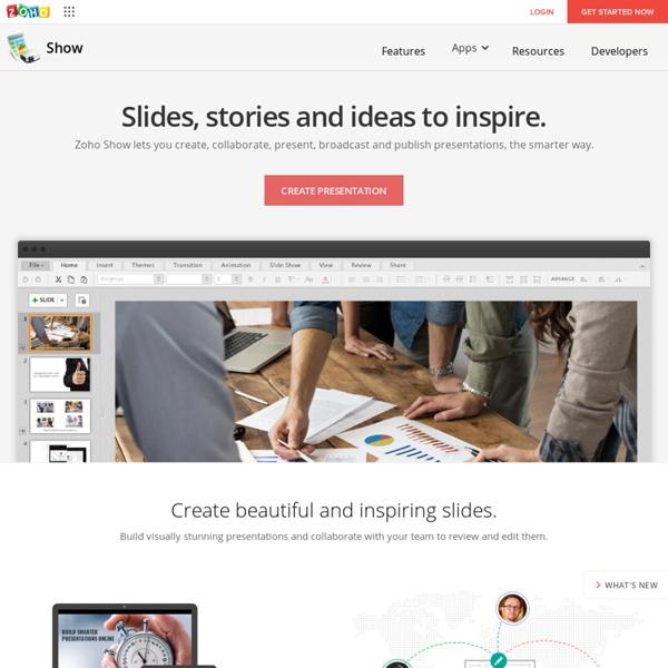 Create & Edit Slides Online - Zoho Show