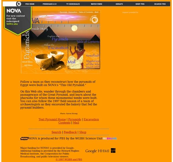 NOVA Online/Pyramids—The Inside Story