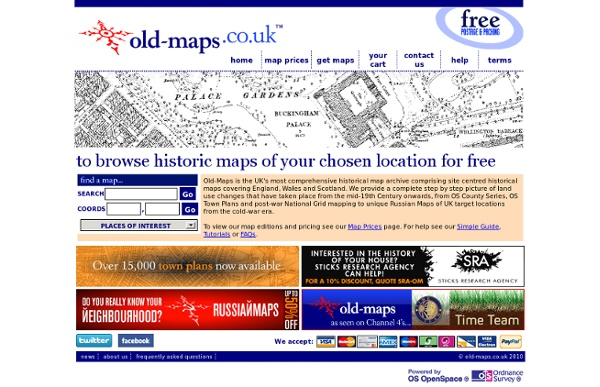 Old-Maps - the online repository of historic maps - home page