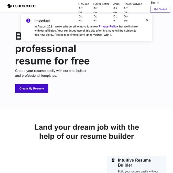 Free Resume Builder Online · Resume.com