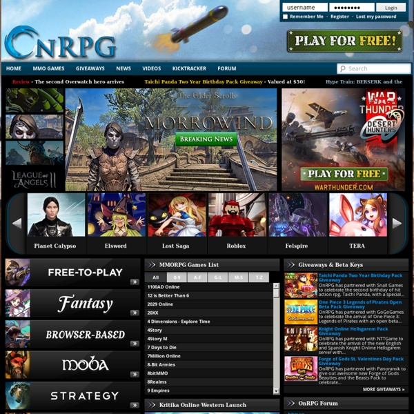 Free MMORPG Online Games & Free MMO RPG Directory - OnRPG