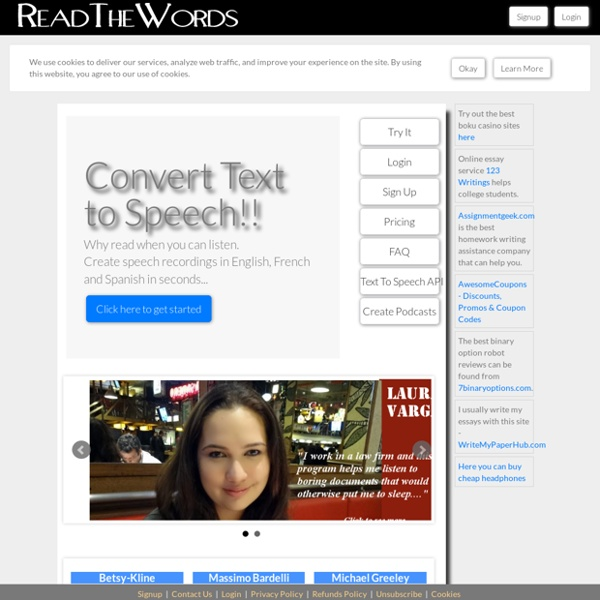 TTS Online : Free Text to Speech Voices : Read The Words