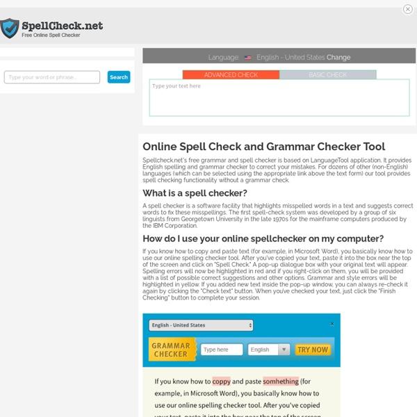 SpellCheck.net - Free Online Spell Checker