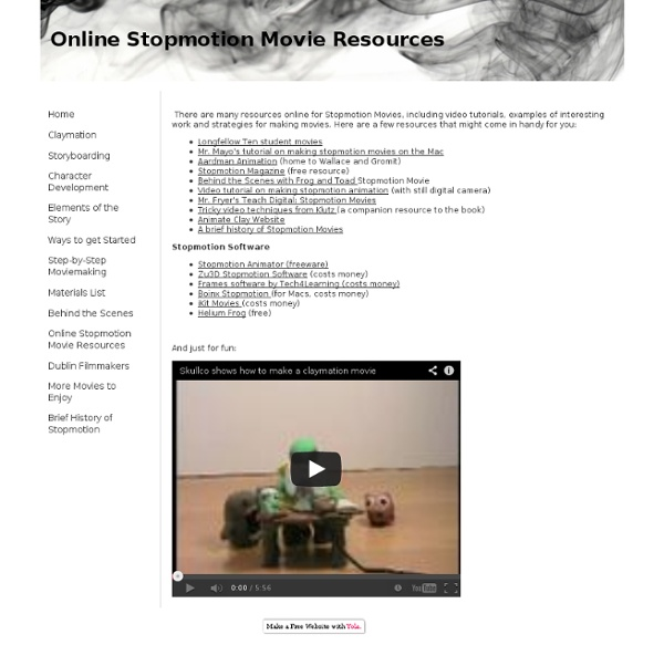 Online Stopmotion Movie Resources