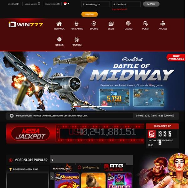 Situs Judi Online Terpercaya Judi Slot Online Idwin777 Pearltrees