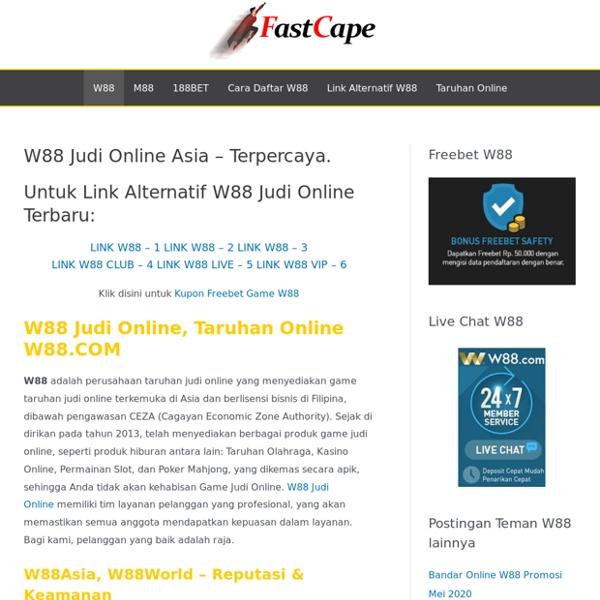 W88 Judi Online Asia - Terpercaya. - W88 Indonesia