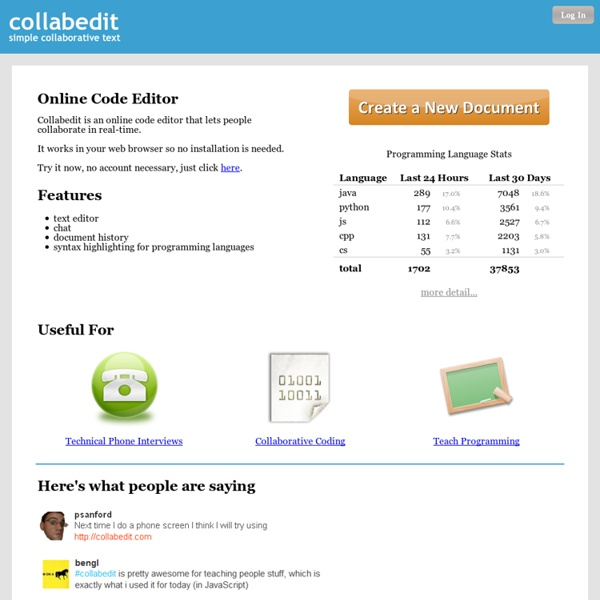 Online text editor - collabedit