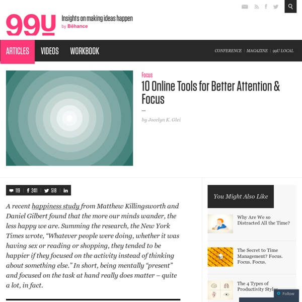 10 Online Tools for Better Attention & Focus