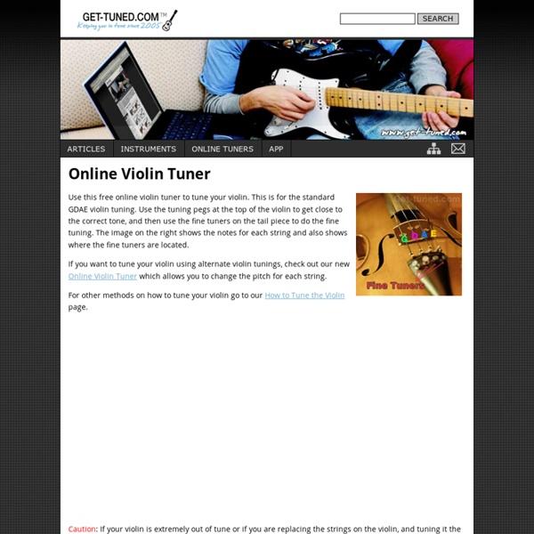 Online Violin Tuner - Get-Tuned.com
