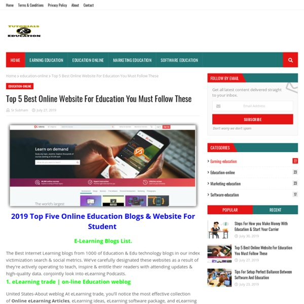 Top 5 Best Online Website For Education You Must Follow These