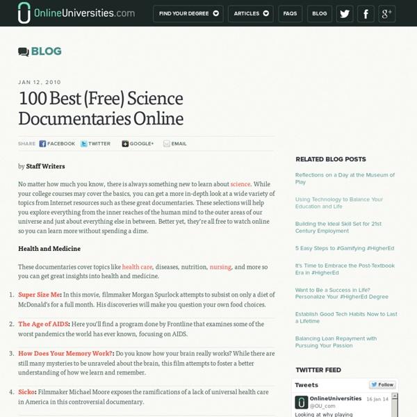100 Best (Free) Science Documentaries Online