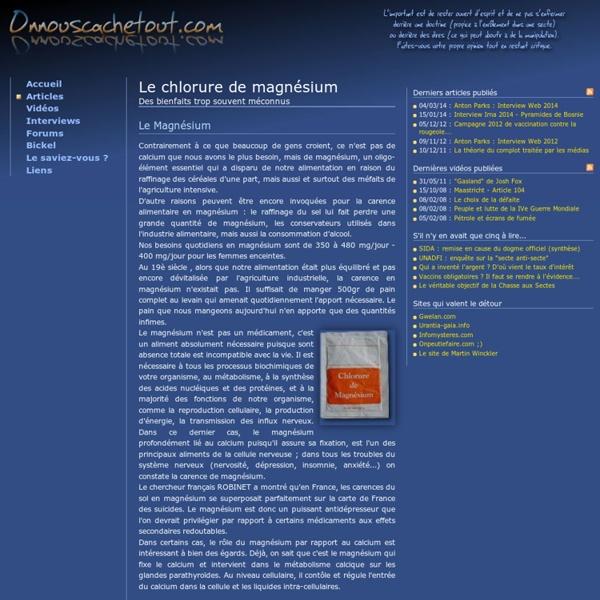 Le chlorure de magnésium