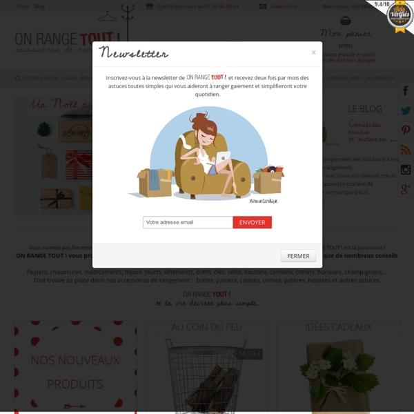 Onrangetout.com : Accessoires de rangement pour toute la maison - ON RANGE TOUT