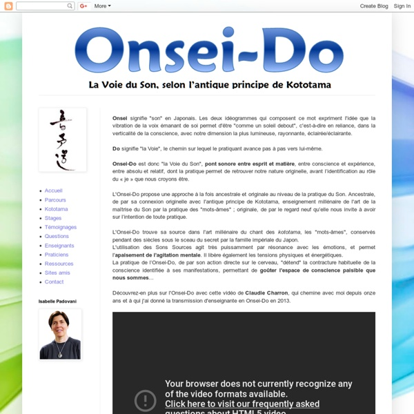 Onsei-Do, la Voie du Son