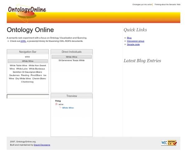 Ontology Online