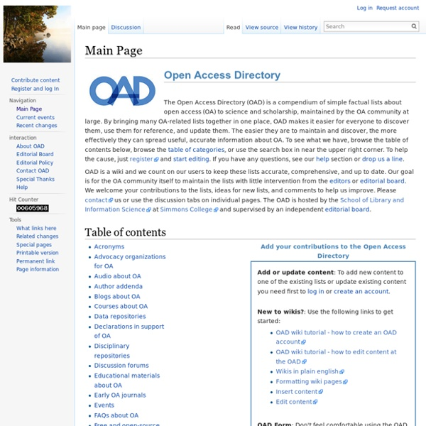 Open Access Directory
