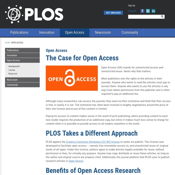 Public Library of Science: Open Access