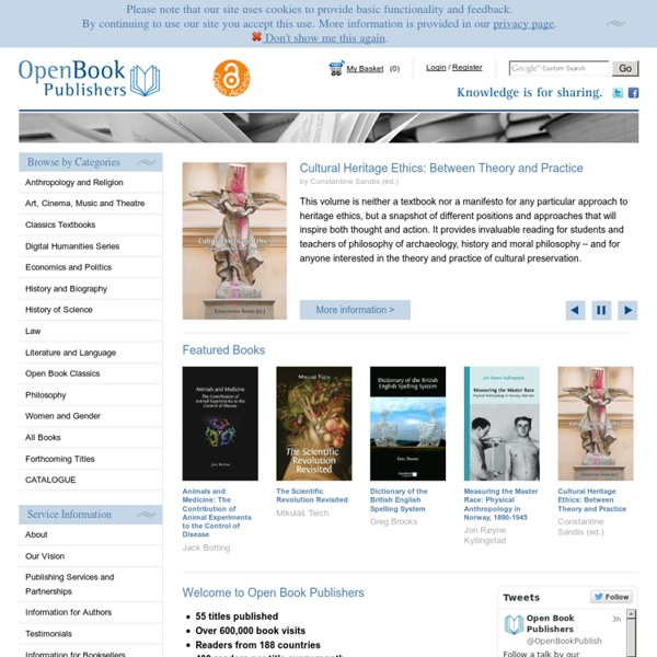Open Book Publishers - Open Book Publishers