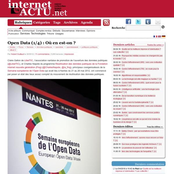 Open Data (1/4) : Où en est-on