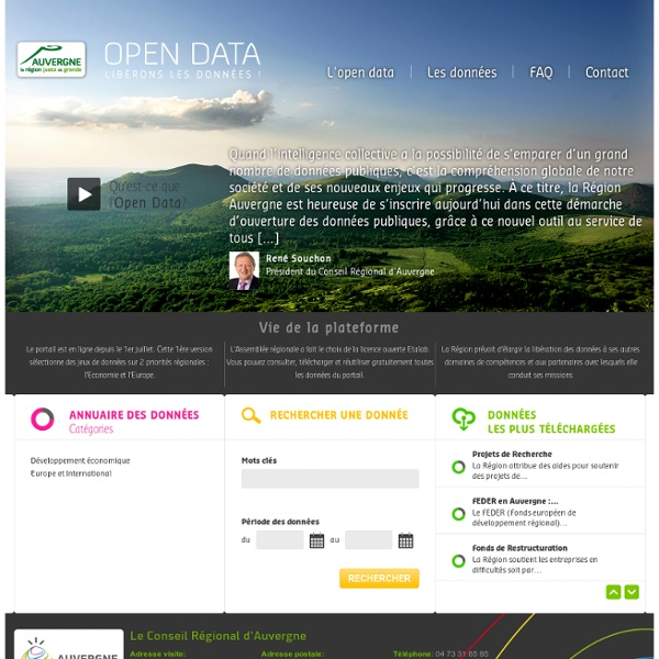 Open Data Région Auvergne