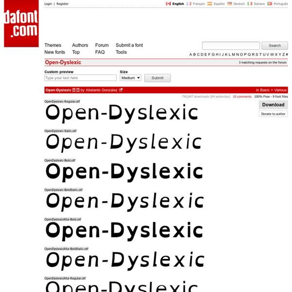 Open-Dyslexic Font