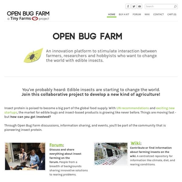 Open Bug Farm - a tiny farms project - Home