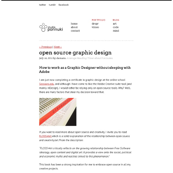 Open source graphic design pearltrees Open source graphics software