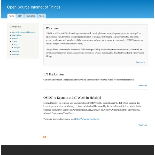 Open Source Internet of Things