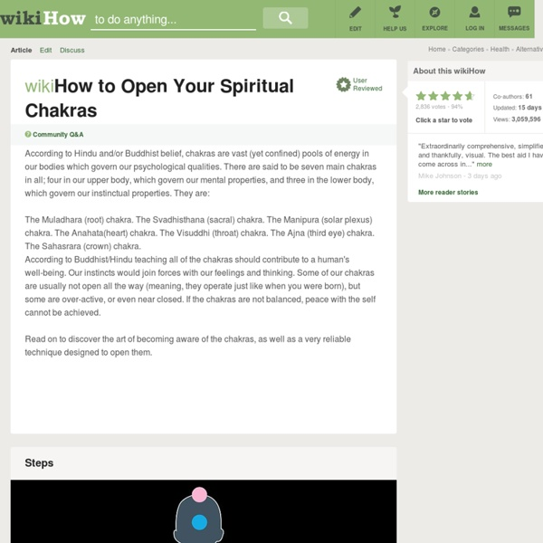 How to Open Your Spiritual Chakras: 8 Steps