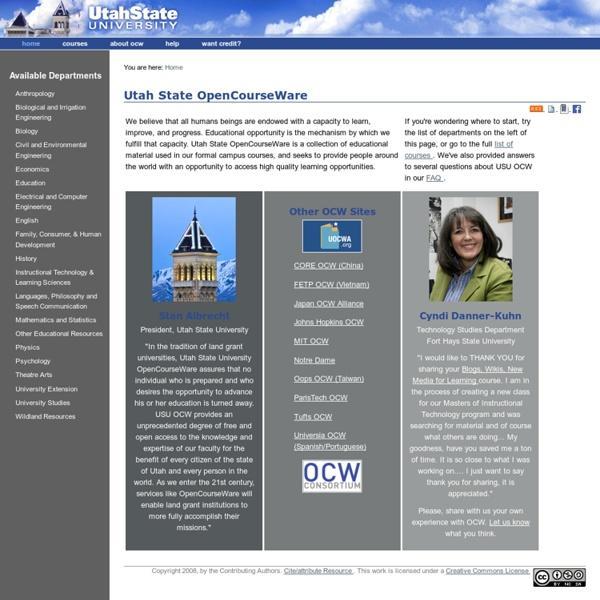 Utah state university opencourseware