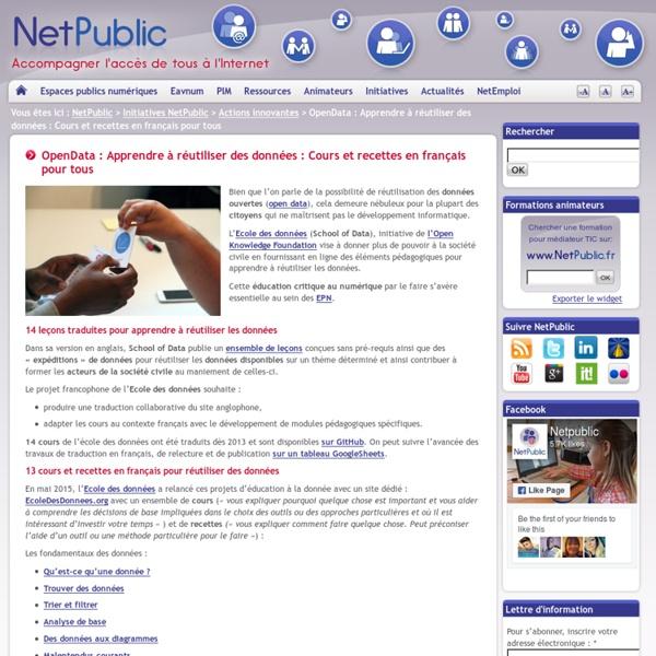 OpenData : Apprendre à réutiliser des données : Cours et recettes en français pour tous