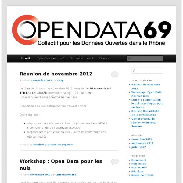 Collectif pour l'ouverture des données dans le Rhône
