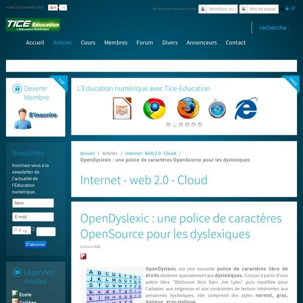 OpenDyslexic : une police de caractères OpenSource pour les dyslexiques