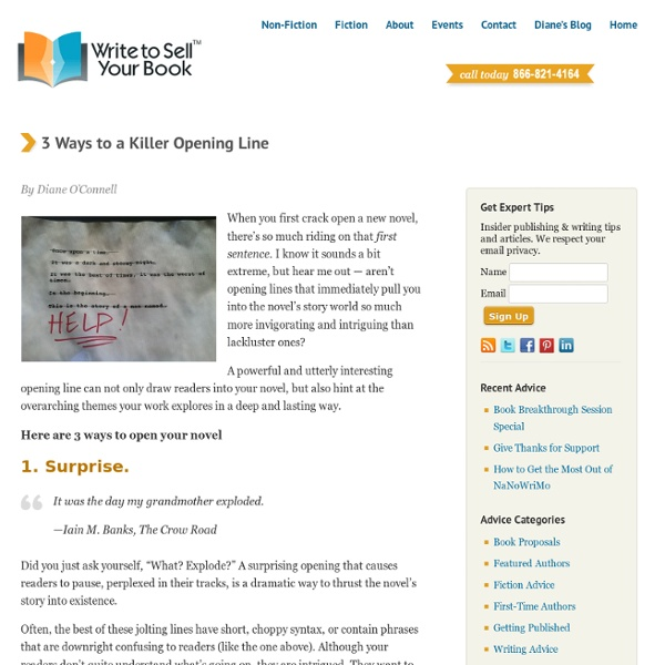 Three Ways to a Killer Opening Line