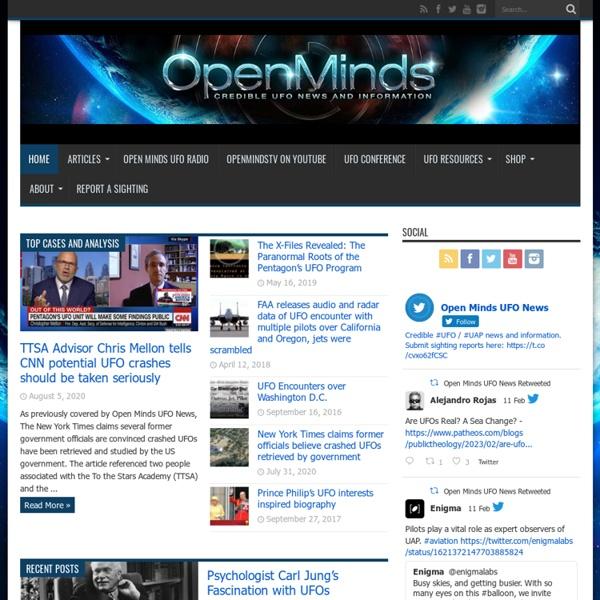 UFO Investigations, UFO News and a UFO Magazine