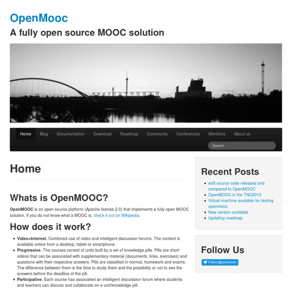 OpenMooc « A fully open source MOOC solution