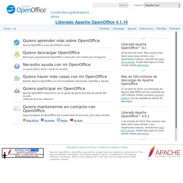 Apache OpenOffice (OpenOffice.org) en Español - Página oficial